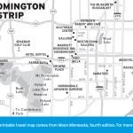 Map of Bloomington Strip, Minnesota