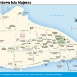 Travel map of Downtown Isla Mujeres