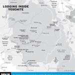 Map of Lodging Inside Yosemite