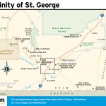 Travel map of Vicinity of St. George, Utah