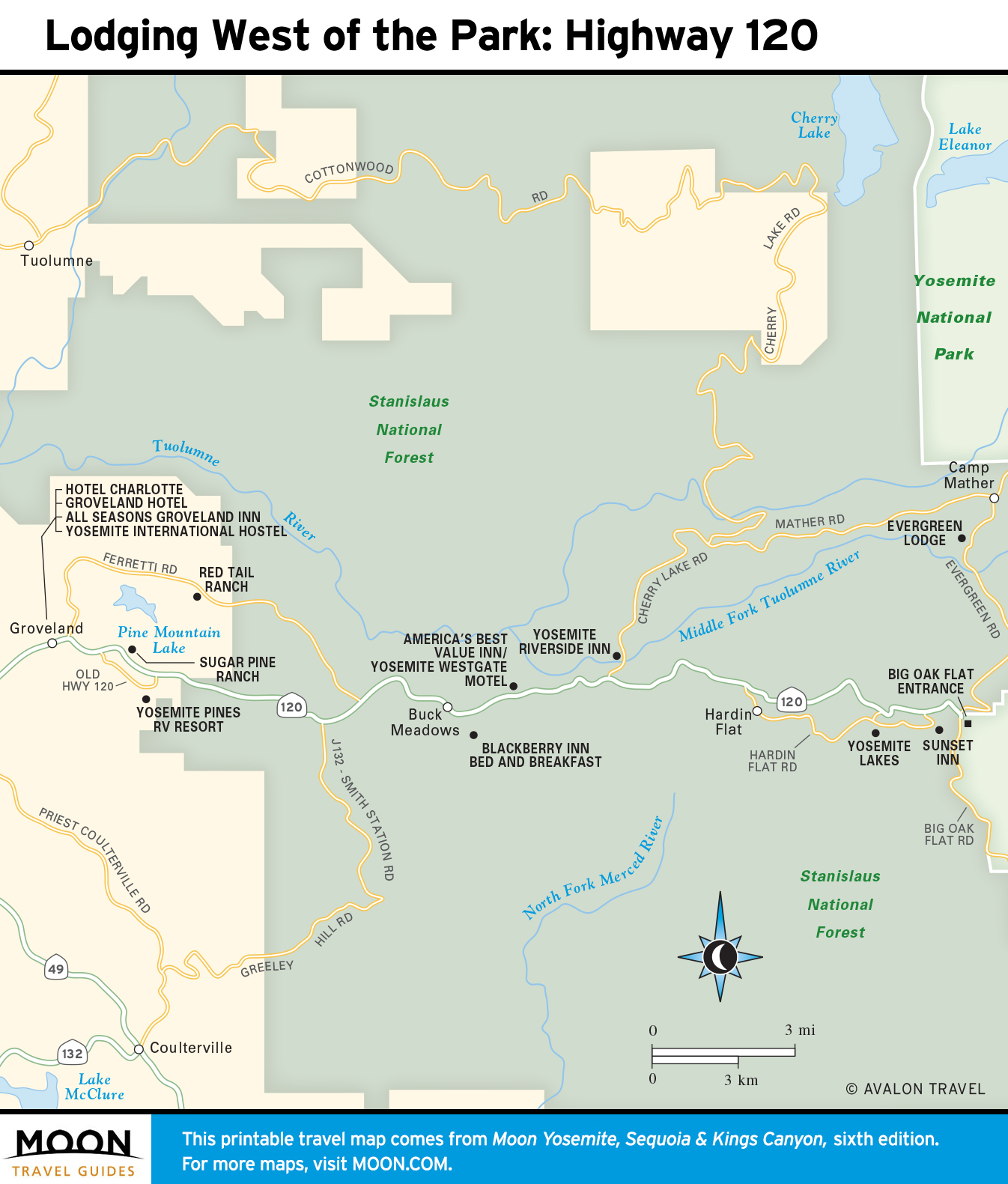 Yosemite National Park | Moon Travel Guides on map of yellowstone park entrances, map of yosemite trails, map of grand canyon entrances, map of disneyland entrances,