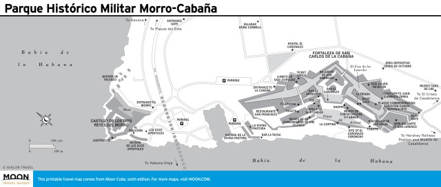 Travel map of Parque Histórico Militar Morro-Cabaña