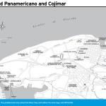 Travel map of Ciudad Panamericano and Cojímar, Cuba