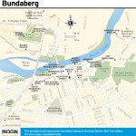 Travel map of Bundaberg, Australia