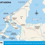 Travel map of Cartagena, Colombia