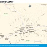 Travel map of Downtown Custer