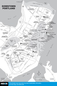 Travel map of Downtown Portland, Maine
