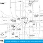 Travel map of Flint, Michigan