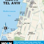 Map of North Tel Aviv, Israel