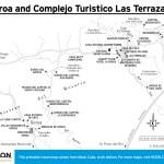 Travel map of Soroa and Complejo Turistico Las Terrazas, Cuba