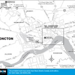 Travel map of Moncton, New Brunswick