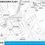 Travel map of Downtown Flint, Michigan