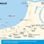 Travel map of Hanalei, Kauai, Hawaii