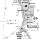 Map of Kentucky Lakes, TN