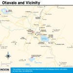 Travel map of Otavalo and Vicinity, Ecuador
