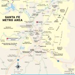 Travel ma of the Santa Fe Metro Area in New Mexico