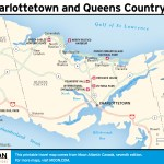 Travel map of Charlottetown and Queens County, PEI