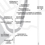 Travel map of Frankenmuth, Michigan