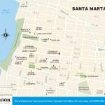 Travel map of Santa Marta, Colombia
