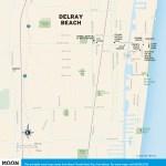 Travel map of Delray Beach, Florida