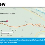 Travel map of Glacier View