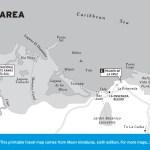 Map of Tela Area, Honduras