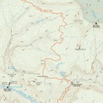 Travel map of the Thunder River Trail in the Grand Canyon
