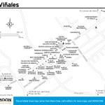 Travel map of Viñales, Cuba