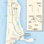 Travel map of Ocean Shores, Washington