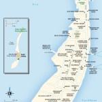 Map of Caye Caulker, Belize