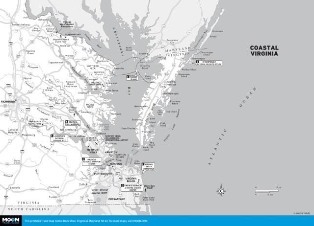 Map of Coastal Virginia