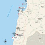 Map of Haifa and the North Coast of Israel