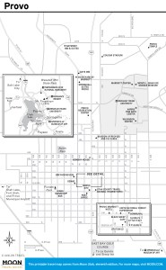Travel map of Provo, Utah