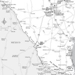 Travel map of San Antonio and South Texas