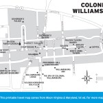Map of Colonial Williamsburg, Virginia