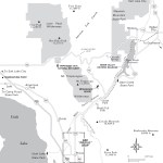 Travel map of North of Provo, Utah