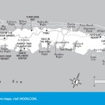 Travel map of Roatan, Honduras