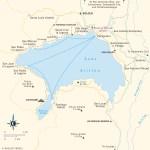Travel map of Lake Atitlán, Guatemala