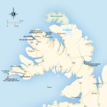 Travel map of the Westfjords