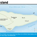 Travel map of Buck Island, Virgin Islands
