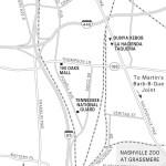Map of South Nashville, TN
