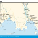 Travel map of Oaxaca's Bahías de Huatulco