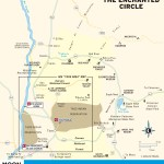 Travel map of the The Enchanted Circle, New Mexico