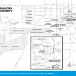 Travel map of Kalamazoo, Michigan and Vicinity.