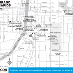 Travel map of Grand Rapids, Michigan