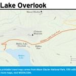 Travel map of Hidden Lake Overlook