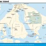 Travel map of Orcas Island, Washington