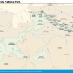 Travel map of Badlands National Park