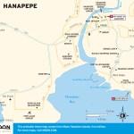 Travel map of Hanapepe, Kauai, Hawaii