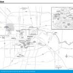 Travel map of Houston, Texas